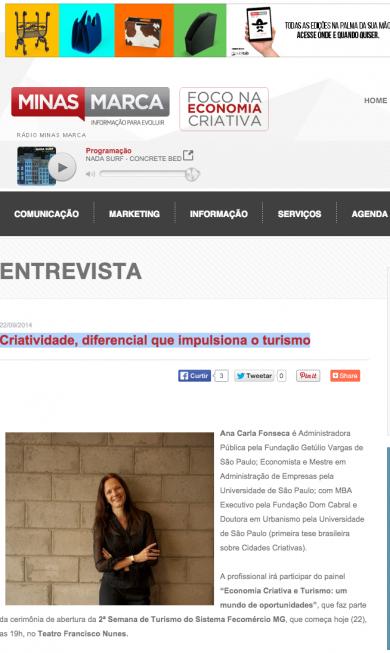 «Criatividade, diferencial que impulsiona o turismo»