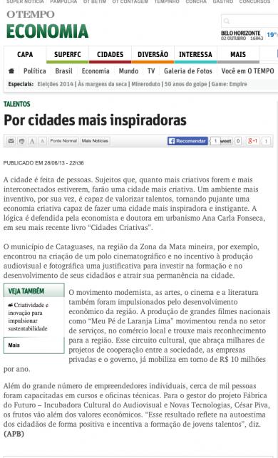 """""""Por Cidades mais inspiradoras"""""""