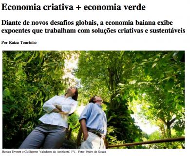 """""""Economia Verde, Economia Criativa"""""""