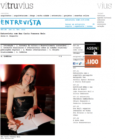 «Entrevista com Ana Carla Fonseca»