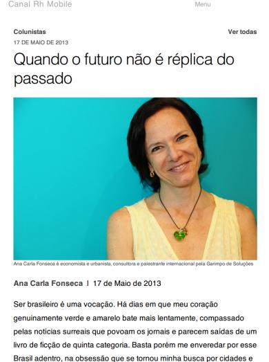«Quando o futuro não é réplica do passado»