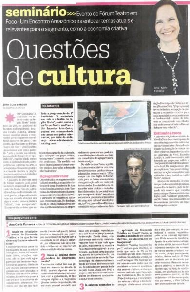 """""""Questões de cultura"""""""