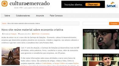 Novo site reúne material sobre economia criativa