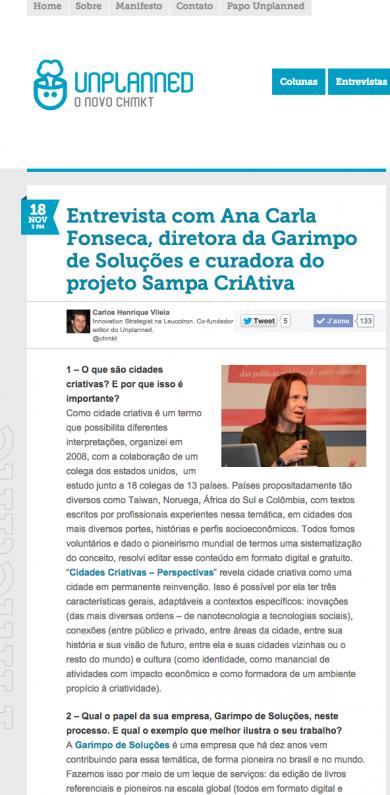 """Entrevista com Ana Carla Fonseca"""