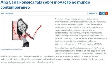 Ana Carla Fonseca fala sobre inovação no mundo contemporâneo