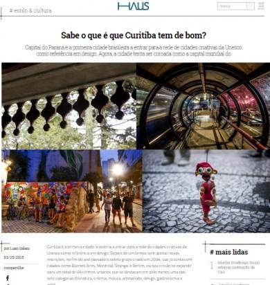 Sabe o que é que Curitiba tem de bom?