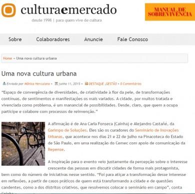 Uma nova cultura urbana