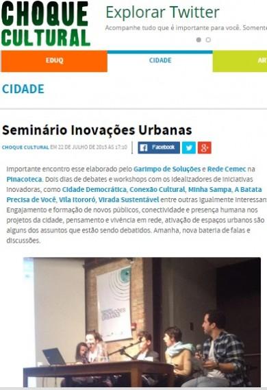 Seminário Inovações Urbanas