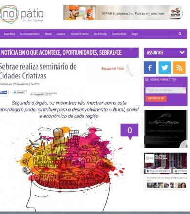 Sebrae realiza seminário de Cidades Criativas