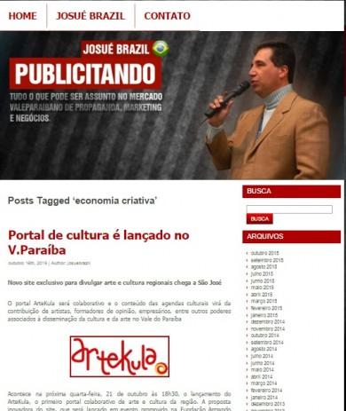 Novo site exclusivo para divulgar arte e cultura regionais chega a São José