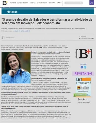 """""""O grande desafio de Salvador é transformar a criatividade de seu povo em inovação"""", diz economista"""