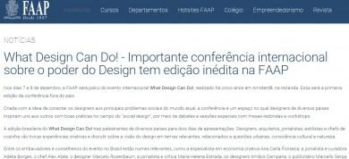 What Design Can Do! – Importante conferência internacional sobre o poder do Design tem edição inédita na FAAP