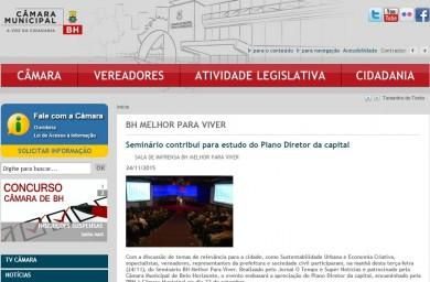 Seminário contribui para estudo do Plano Diretor da capital