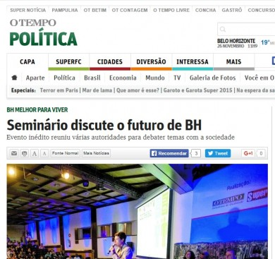 Seminário discute o futuro de BH