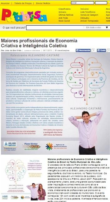 Maiores profissionais de Economia Criativa e Inteligência Coletiva