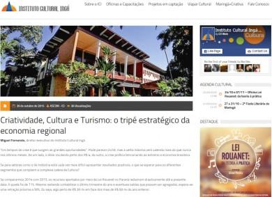 Criatividade, Cultura e Turismo: o tripé estratégico da economia regional