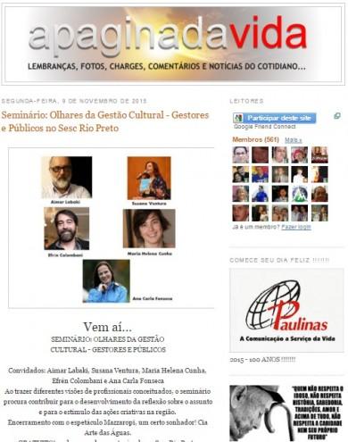 Seminário: Olhares da Gestão Cultural – Gestores e Públicos no Sesc Rio Preto