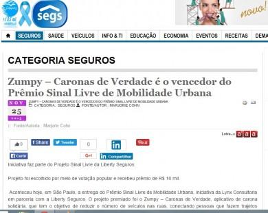 Caronas de Verdade é o vencedor do Prêmio Sinal Livre de Mobilidade Urbana