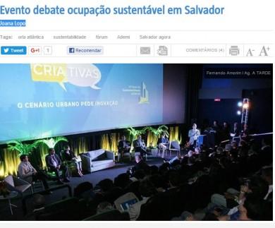 Evento debate ocupação sustentável em Salvador
