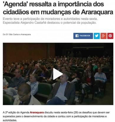 """""""Agenda"""" ressalta a importância dos cidadãos em mudanças de Araraquara"""