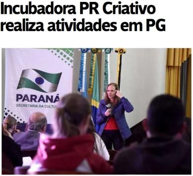 Incubadora PR Criativo realiza atividades em PG