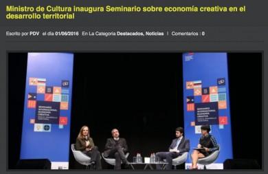 Ministro de Cultura inaugura seminario sobre economía creativa en el desarrollo territorial