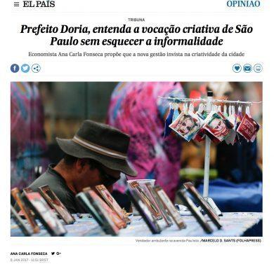 Prefeito Doria, entenda a vocação criativa de São Paulo sem esquecer a informalidade