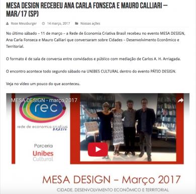 MESA DESIGN recebeu Ana Carla Fonseca e Mauro Calliari