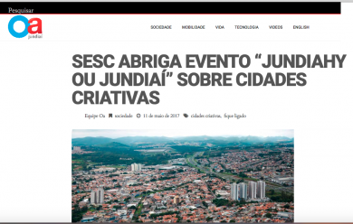 "SESC abriga evento ""Jundiahy ou Jundiaí"" sobre cidades criativas"