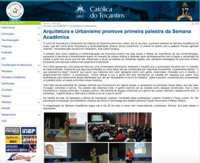 Arquitetura e Urbanismo promove primeira palestra da Semana Acadêmica