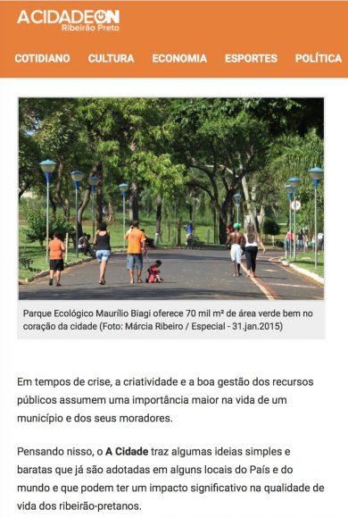 É com boas ideias que se faz uma Ribeirão Preto melhor