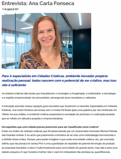 Entrevista: Ana Carla Fonseca