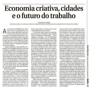 Economia Criativa, Cidades e o Futuro do Trabalho