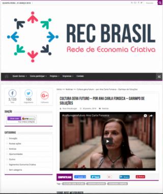 Cultura gera futuro – por Ana Carla Fonseca – Garimpo de Soluções
