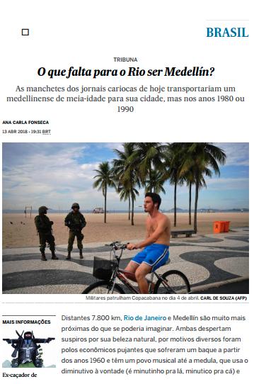 O que falta para o Rio ser Medellín?