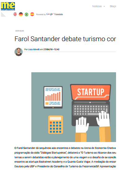 Farol Santander debate turismo com startups