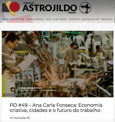 Ana Carla Fonseca: Economia criativa, cidades e o futuro do trabalho