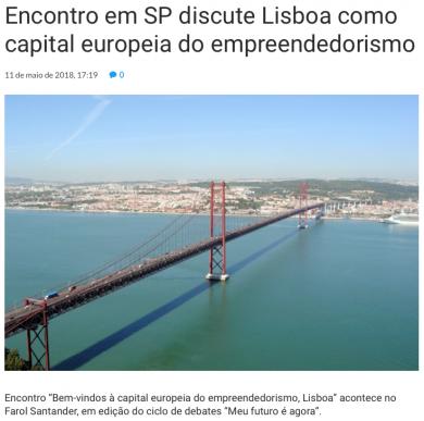 Encontro em São Paulo discute Lisboa como capital europeia do empreendedorismo