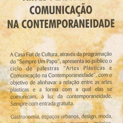 Artes Plásticas e Comunicação na Contemporaneidade