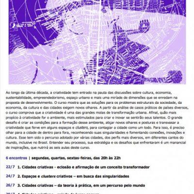 Cidades criativas – da teoria à prática
