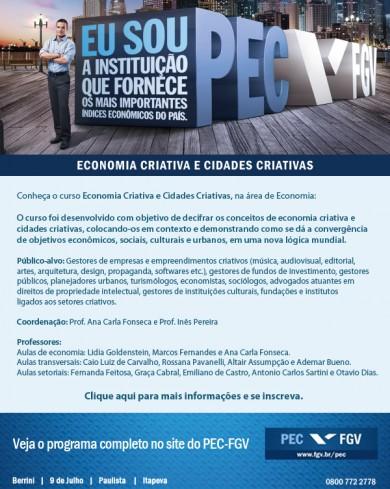 Programa de Educação Continuada em economia criativa e cidades criativas da FGV