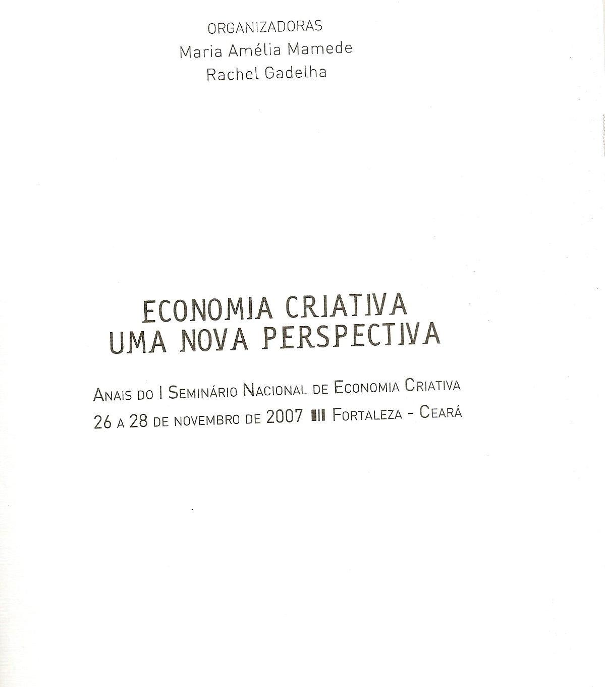 Economia criativa – uma nova perspectiva