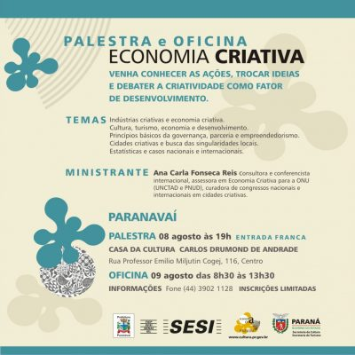 Cycle d'Ateliers et de Conférences sur L'Économie Créative et les Villes Créatives de L'État du Paraná