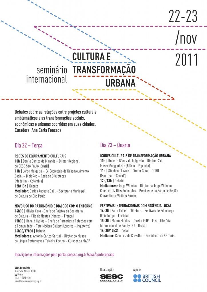 Seminário Internacional Cultura e Transformação Urbana