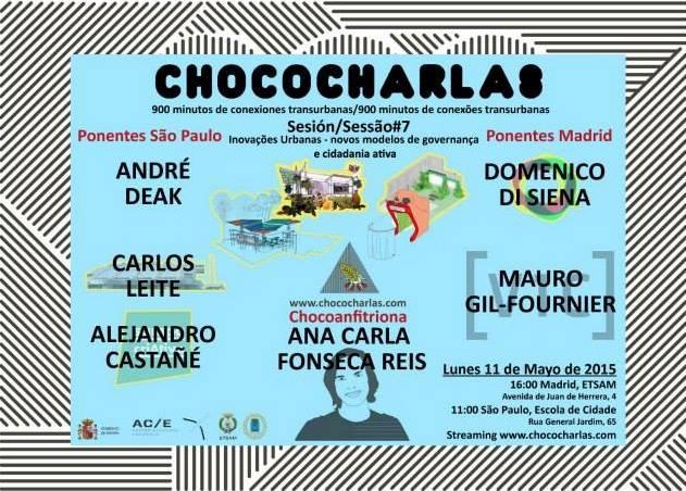 Chococharlas, sessão 7 ….. Conexões transurbanas Madri-São Paulo!